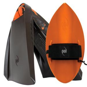POD Fins PF3s Black/Orange - Orange POD Handboard