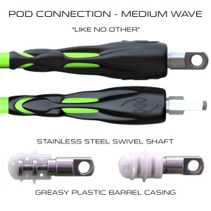 POD Connection 6ft Leg Ropes - Surfing Medium Waves