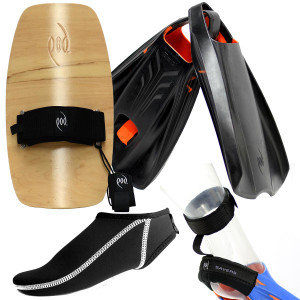Premium Bodysurfing Tools - Wood Handboard PF2s Socks Savers