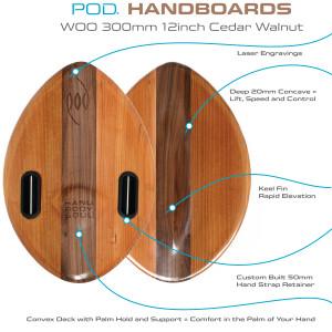 Best Bodysurfing Gear – WOO Wood POD Handboard PF2 Swim Fins