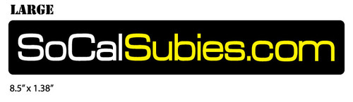 SoCalSubies Sticker (Large)