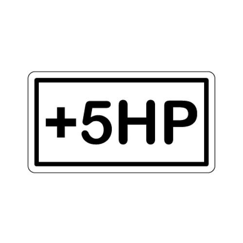 +5HP Acrylic Sticker