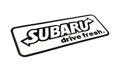 Subie Drive Fresh Decal (SUBWAY Spoof)