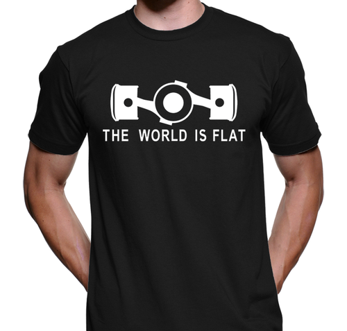 The World Is Flat printed on American Apparel Shirt (Black)
