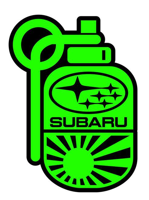 Subie Grenade / Bomb Sticker - Green / Black
