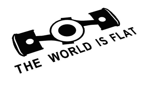 The World is Flat Sticker Decal