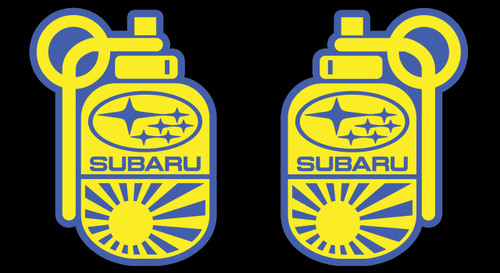 Subie Grenade / Bomb Air Freshener (Yellow-Blue)