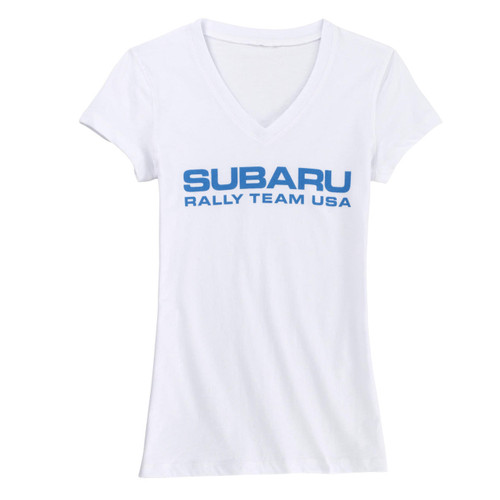 Subaru Rally Team USA Official Shirt - Ladies V-Neck