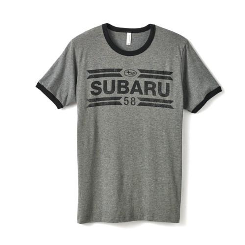 Subaru Charcoal Ringer T-Shirt