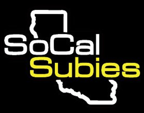 SoCalSubies Rear Window Decal (Black/White/Gold)