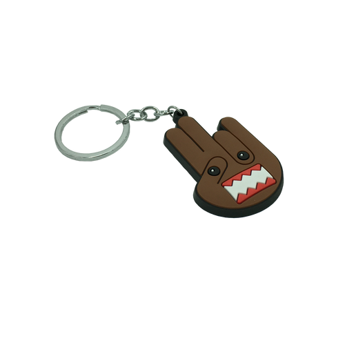 Domo Kun Shocker Rubber Keychain