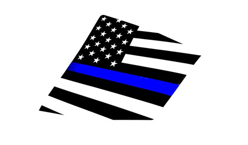 15+ WRX / STI Thin Blue Line American Flag Rear Side Window Decal Stickers