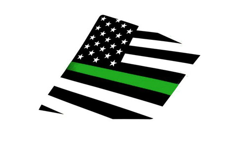 15+ WRX / STI Thin Green Line American Flag Rear Side Window Decal Stickers
