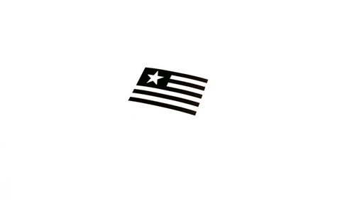 American Flag License Plate Sticker Decal