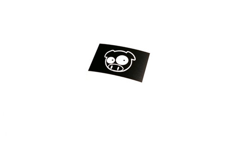 Rally Pig License Plate Sticker Decal