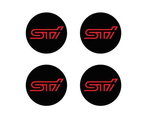 STi Wheel Center Cap Overlays