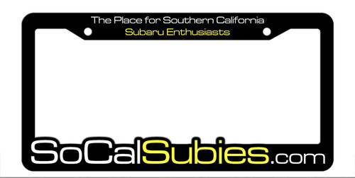 SoCalSubies Molded License Plate Frame