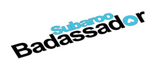 Subaroo Badassador Sticker Decal ( Black & Blue Vinyl)