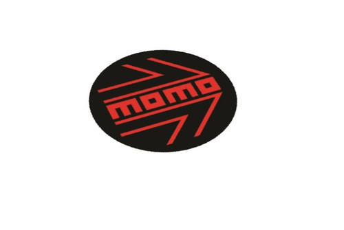 Momo steering wheel emblem overlay