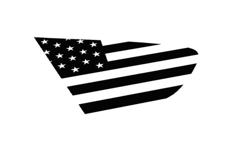 18+ XV Crosstrek American Flag Rear Side Window Decal Stickers