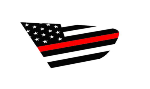 18+ XV Crosstrek Thin Red Line Flag Rear Side Window Decal Stickers