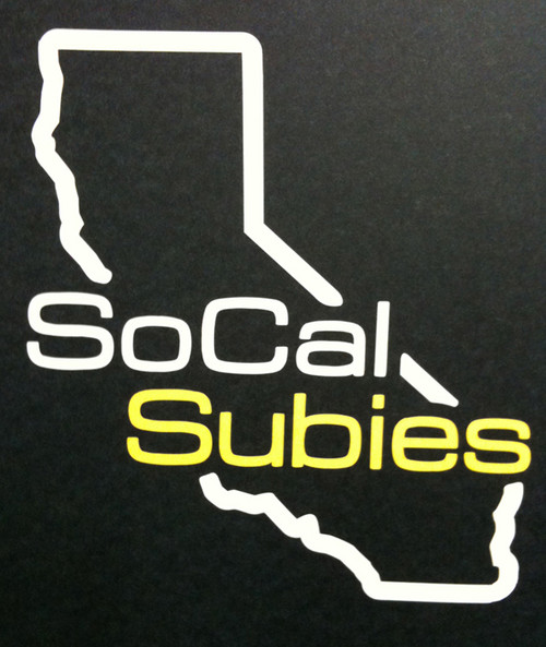 SoCalSubies Rear Window Vinyl Decal (White/Gold)
