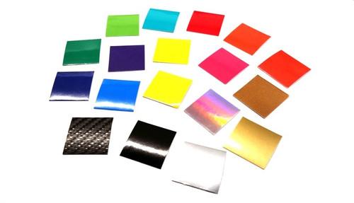 Assorted vinyl sample swatches