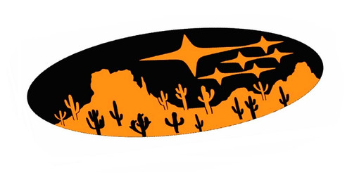 Star Cluster Desert Emblem Overlay