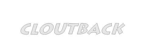 Cloutback sticker decal