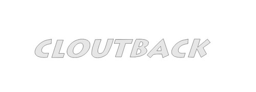 Cloutback sticker decal