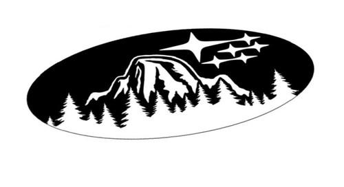 Yosemite Half Dome Subie Star Cluster Forest Emblem Overlays