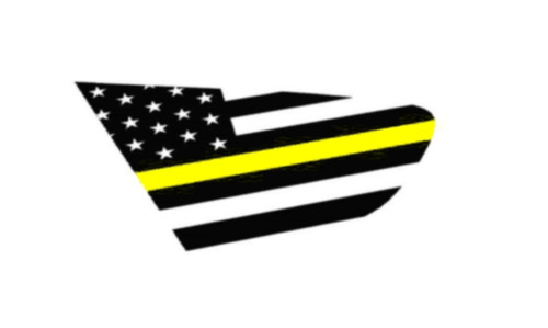 18+ XV Crosstrek Thin Yellow Line Flag Rear Side Window Decal Stickers