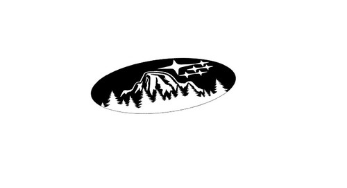 Yosemite Half dome Star Steering Wheel Emblem Overlay