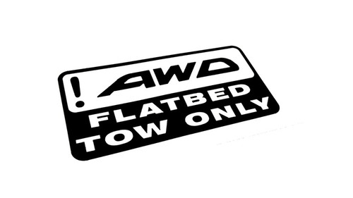 !AWD Flatbed Tow Only