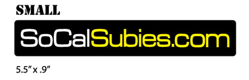 SoCalSubies Window Sticker (Small)