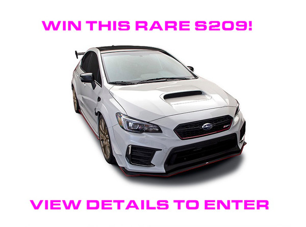 You could win this rare 2019 Subaru STI S209 #153 of only 209 ever produced!