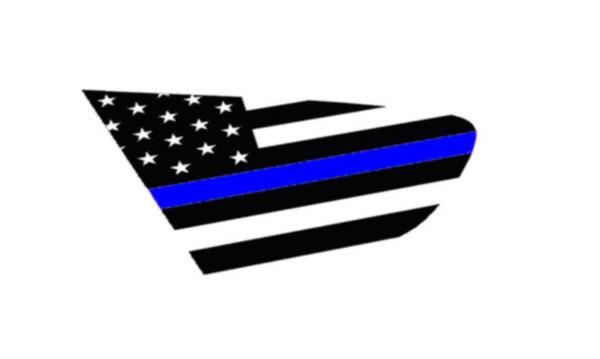 18+ XV Crosstrek Thin Blue Line Flag Rear Side Window Decal Stickers