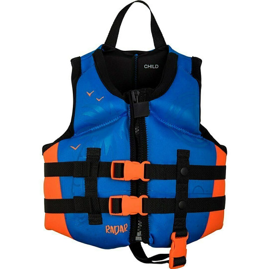 Radar Boy's Child Life Jacket - Blue/Orange