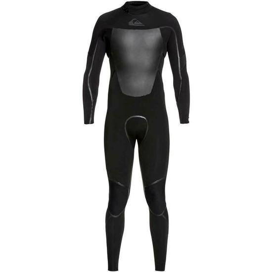 Quiksilver 3/2mm Syncro Plus Back Zip Wetsuit - Black - Front