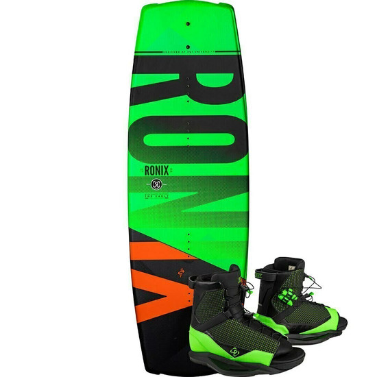Ronix Vault 128 Kid's Wakeboard Package w/ District Boots - 2020