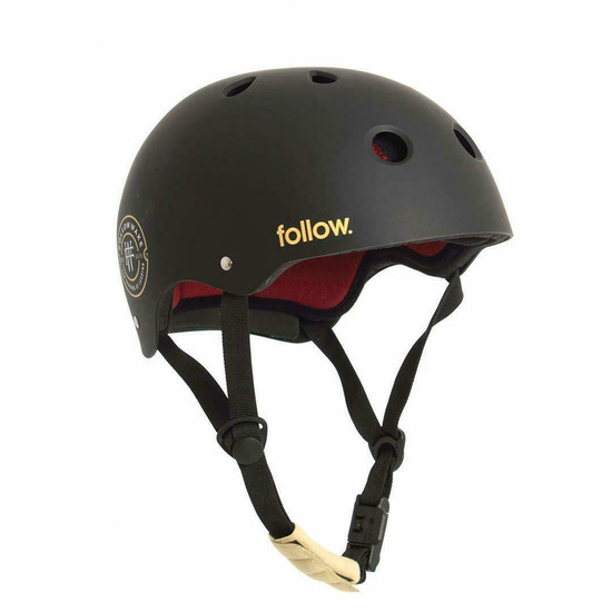 Follow Pro Wakeboard Helmet - Black/Maroon