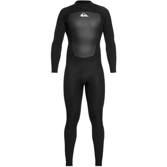 Quiksilver 3/2 Prologue Back Zip Wetsuit - Black - Front