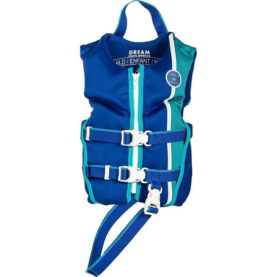Liquid Force Dream Child Life Jacket - Navy/Aqua