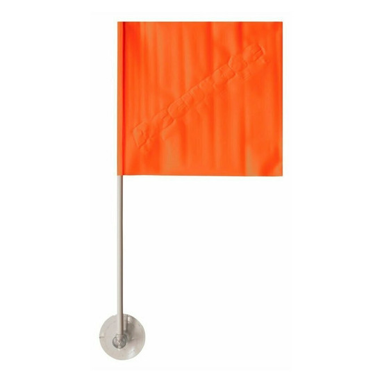 HO Skier Down Flag With Suction Cup