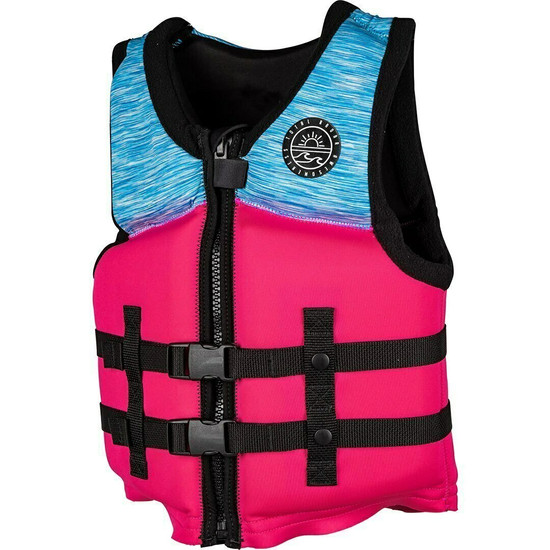 Radar T.R.A. Youth Girl's Life Jacket - Pink/Blue