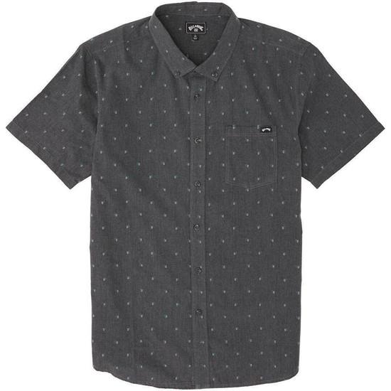 Billabong All Day Jacquard Short Sleeve Shirt - Black - Front