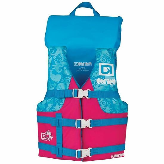O'brien Youth Nylon Life Jacket  - Blue / Pink