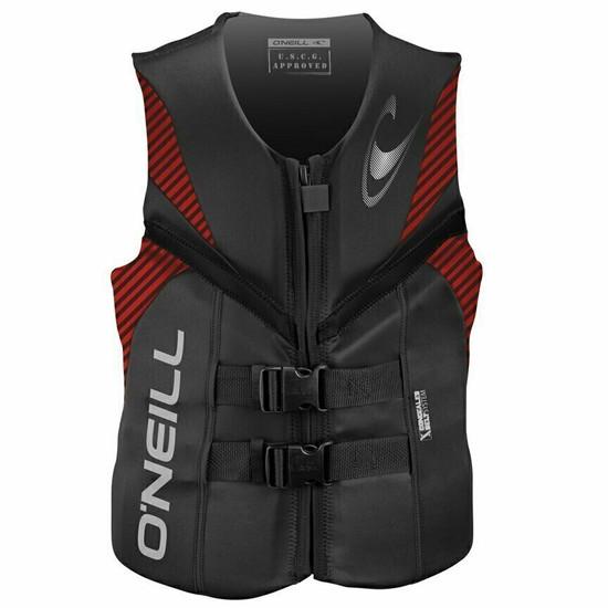 O'neill Reactor Mens USCG Vest - Graphite / Red