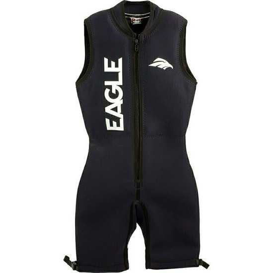 Eagle All Black Barefoot Wetsuit - Front