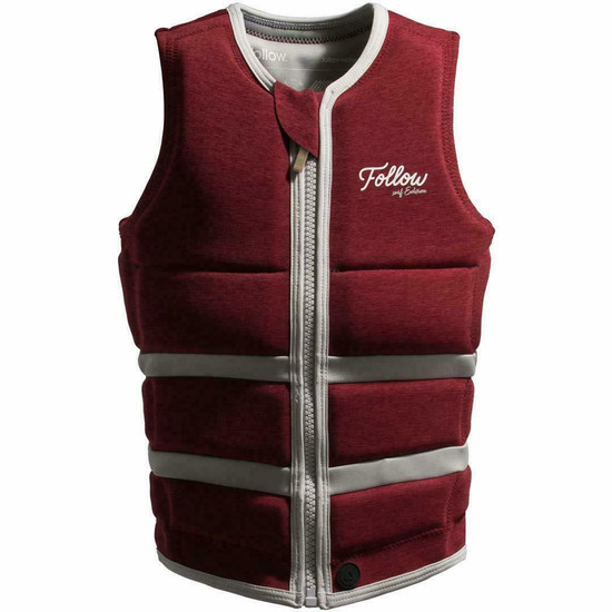 Follow Ladies Surf Edition Comp Vest - Red Wine - Front View